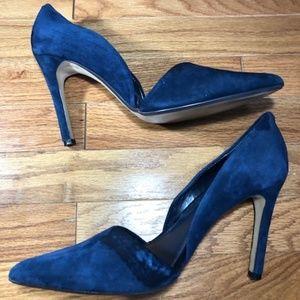 Banana Republic Blue Pumps D'orsay Heels Sz 9